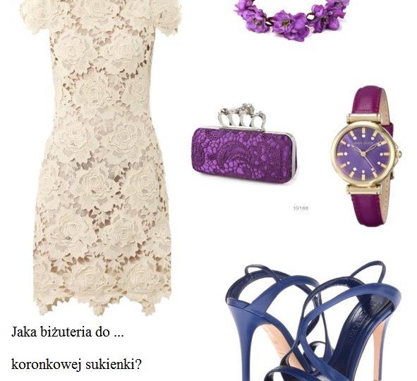 Jaka biżuteria do sukienki z koronki?