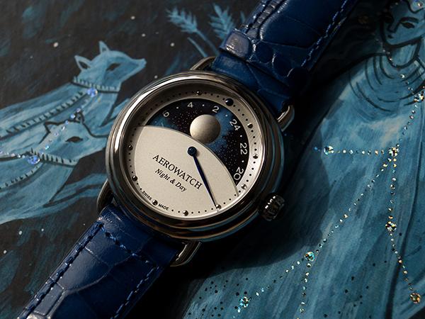 Unikatowy zegarek damski Aerowatch Night & Day.